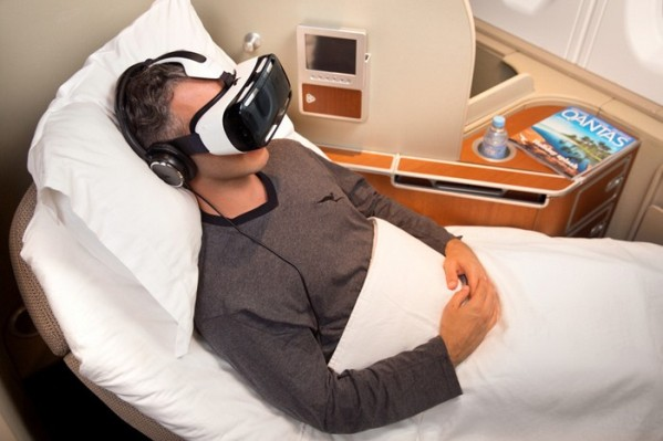 Qantas passengers will dip into virtual reality